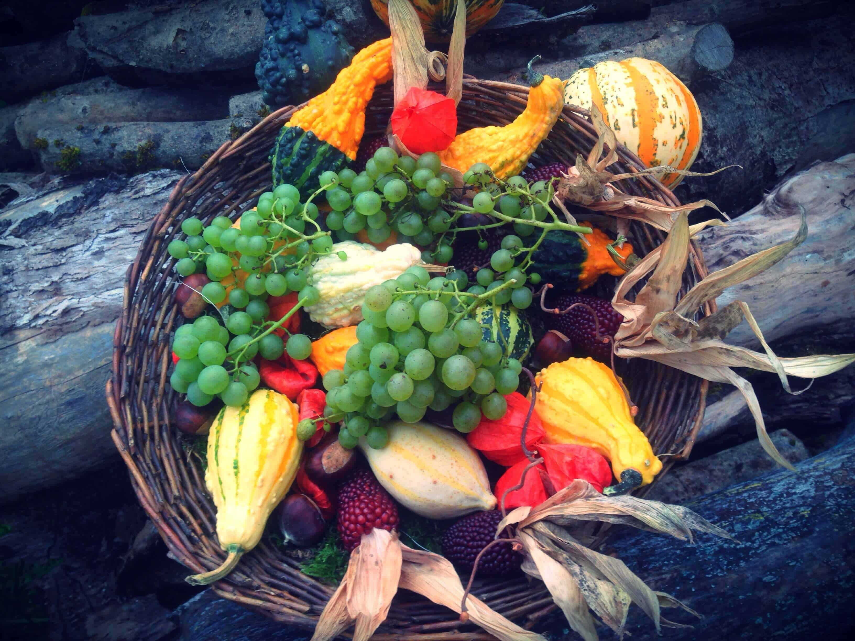 fall fruits and vegetables image