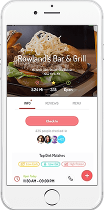 HowUDish app - Food Dish information view