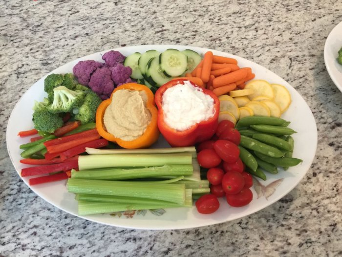 Seek out the veggie tray