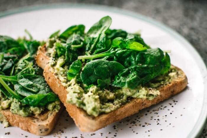 Spinach on Toast